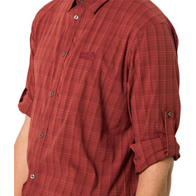 Jack Wolfskin Rays Flex Longsleeve Heren, mexican pepper checks